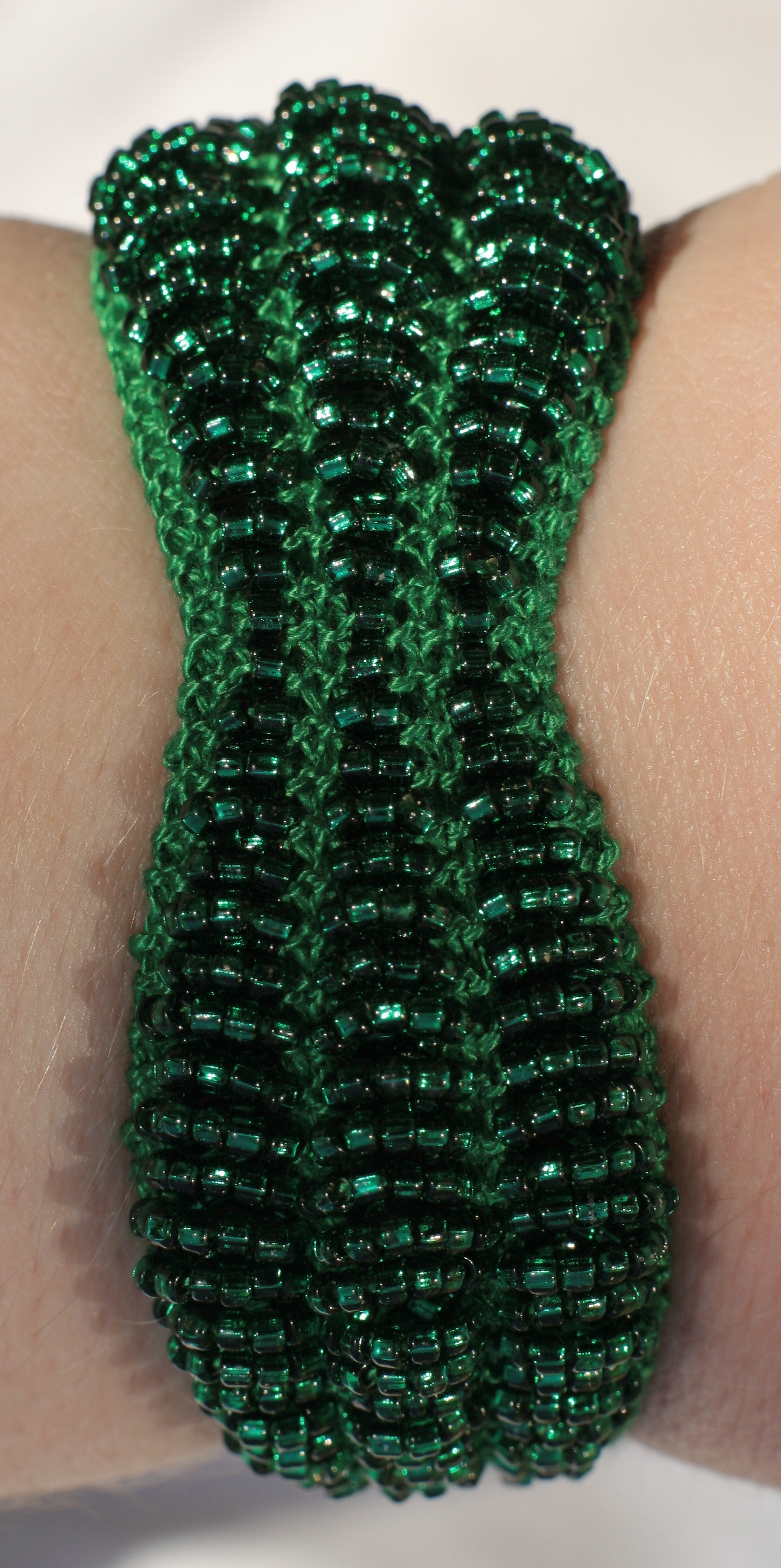 Three Deep Waves Beaded Bracelet