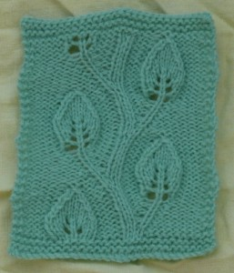 Vine Leaf Knitting Pattern : City and Guilds Heather Knits Page 3