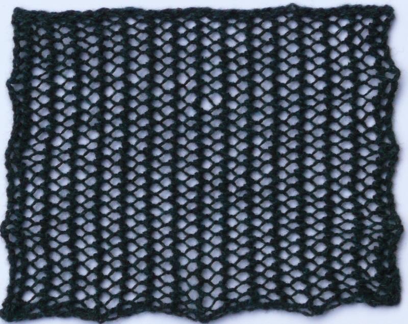 Knit Mesh Stitch Knitting : Lace Heather Knits