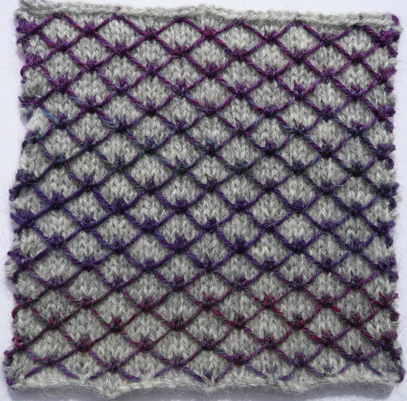 Quilt Stitch In Knitting : Double knitting and quilted knitting Heather Knits