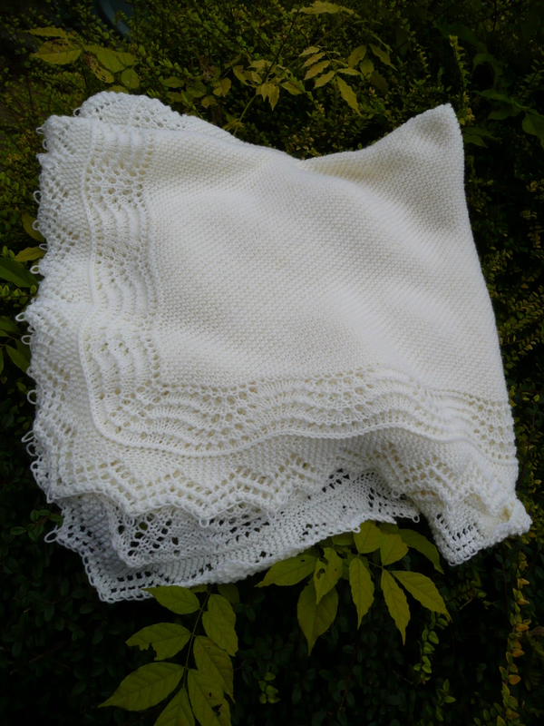 Knitting Patterns For A Baby Shawl : Lace Heather Knits